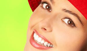 А. здоровые и красивые зубы