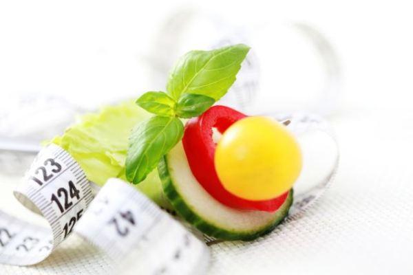 fresh vegetables on fork - diet and breakfast