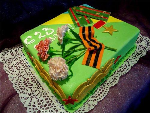 а. идеи на 23 февраля вкусный подарочный торт