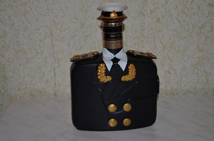 а. идеи на 23 февраля украсить бутылку коньяка