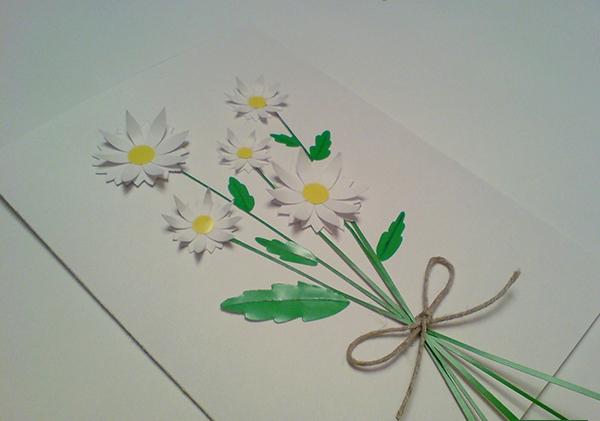 а. открытка с ромашками на 8 марта 12