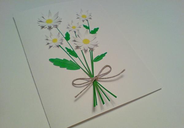 а. открытка с ромашками на 8 марта 14