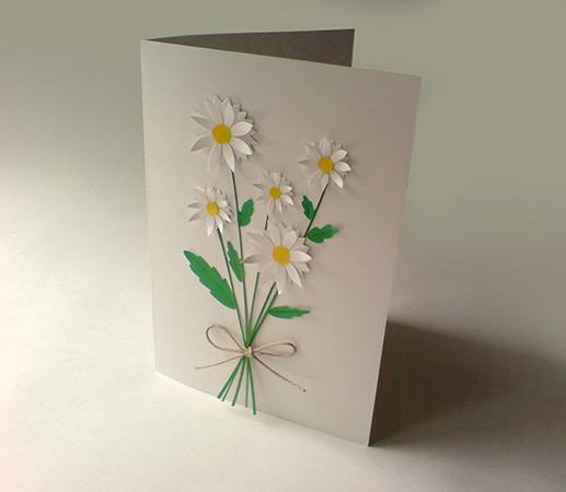 а. открытка с ромашками на 8 марта 15