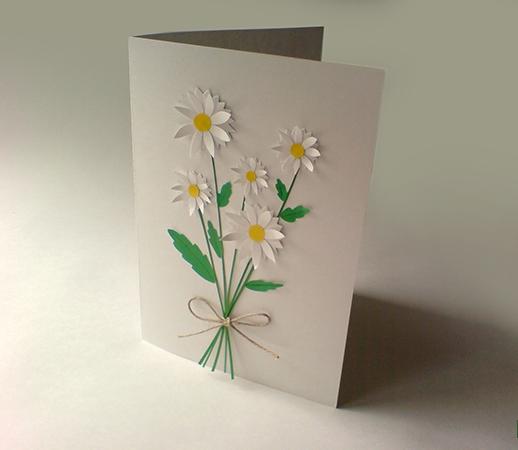 а. открытка с ромашками на 8 марта