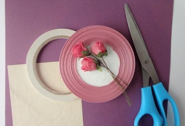 а. открытка с розами 1
