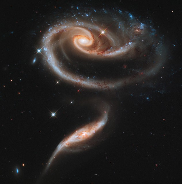 а. с. группы взаимодействующих галактик Arp 273