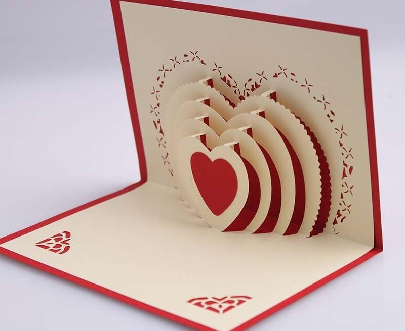 Красивые, объемная открытка внутри своими
