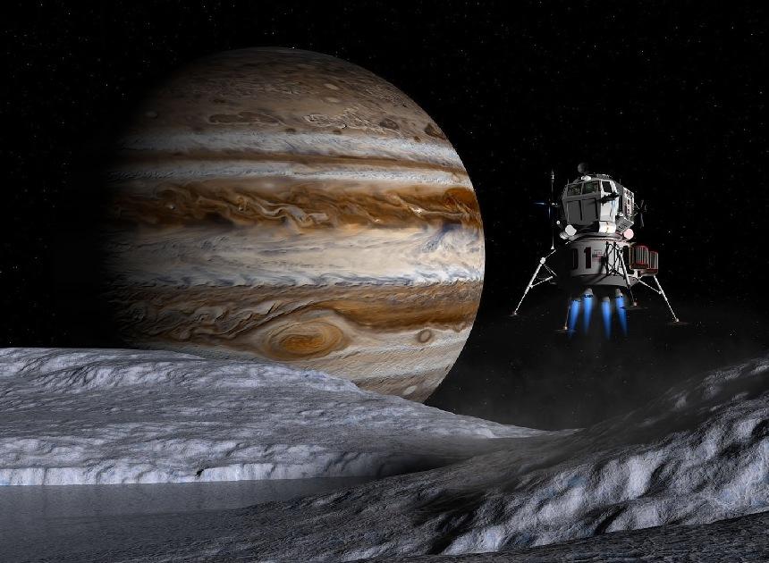 pyat-interesnyh-faktov-o-planete-YUpiter-foto-planeta-YUpiter-i-sputnik-Evropa