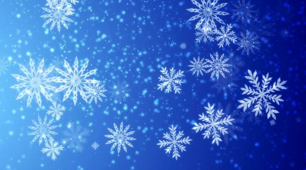 Анимация для фото со снежинками