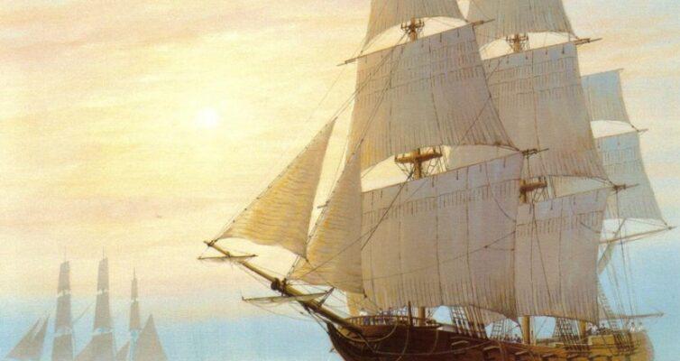 morskie-primety-i-narodnye-poverya-na-more-i-korable-dlya-moryakov-i-kapitanov-foto-brigantina-parusnik-s-belymi-parusami-v-more