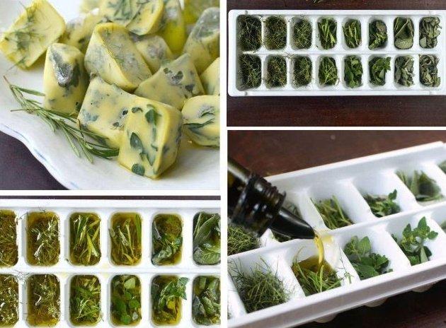 neobychnye-kulinarnye-hitrosti-i-sovety-foto-zamorozit-zelen-v-formochki-s-maslom