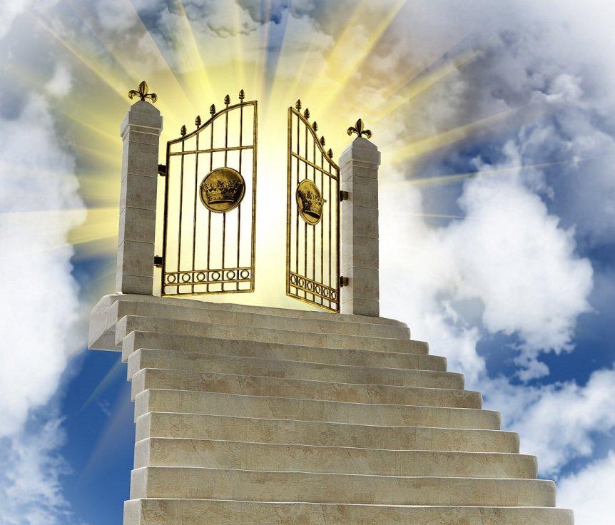 Anekdot-pro-raj-beseda-Apostola-s-dvornikom-uchitelem-i-byurokratom-u-vrat-raya-foto-vrata-raya