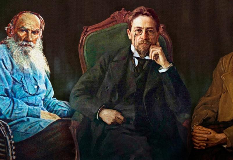 Test-ugadajte-avtora-znamenitoj-tsitaty-iz-treh-velikih-klassikov-Gogol-CHehov-Tolstoj-foto-CHehov-i-Lev-Tolstoj...