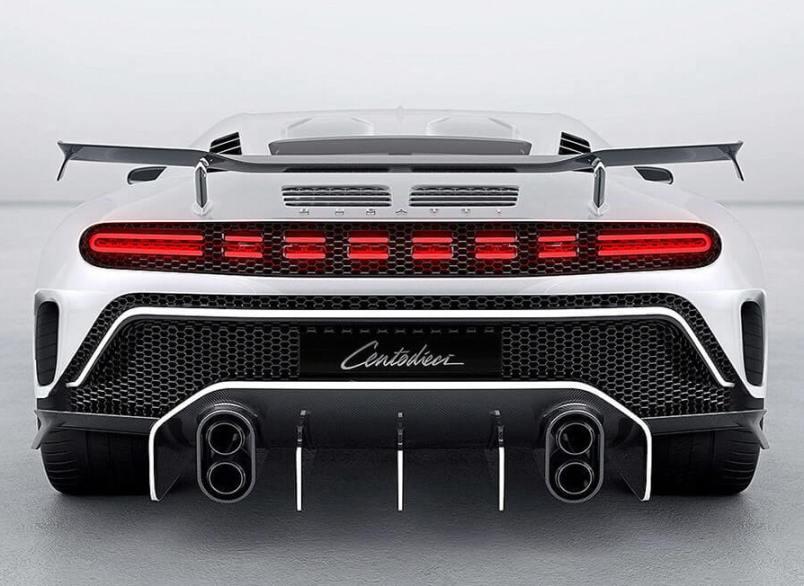 superkar-ruchnoj-sborki-Bugatti-Centodieci-2020-foto-vid-szadi-harakteristika-avto-tsena...