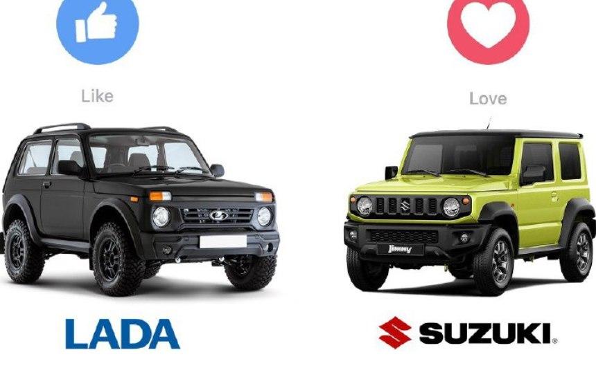 Avtomobilnyj-Test-uznajte-kakoj-avtomobil-vam-stoit-kupit-iz-dvuh-Suzuki-Jimny-ili-Lada-4x4-kakoj-dlya-vas-luchshe-foto-suzuki-dzhimni-i-niva-bronto...