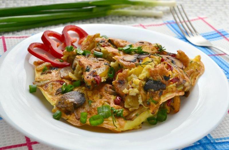 kak-prigotovit-neobychnyj-omlet-3-appetitnyh-i-vkusnyh-retsepta-foto-omlet-s-gribami-i-kortofelem