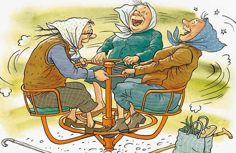 Картинки старушек подружек прикольные, надписью