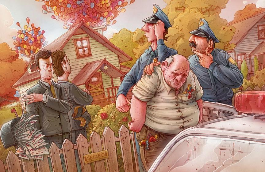 ochen-smeshnoj-anekdot-pro-starogo-deda-Arhipa-i-politsiyu-risunok-ded-i-politsiya-u-doma