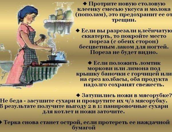 80-sovremennyh-sekretov-poleznyh-sovetov-hozyajke-na-zametku-foto-poleznaya-pamyatka...