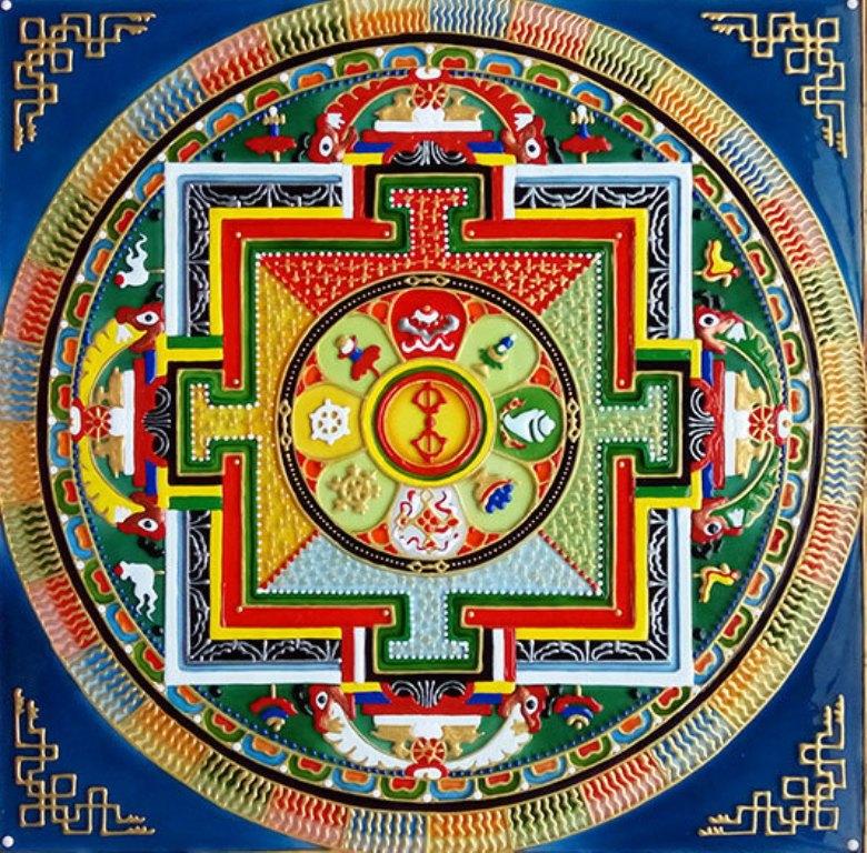 mandala-chto-ona-oznachaet-kak-vyglyadit-i-kakimi-silami-obladaet-foto-tibetskaya-mandala-Buddy-zashhitnaya