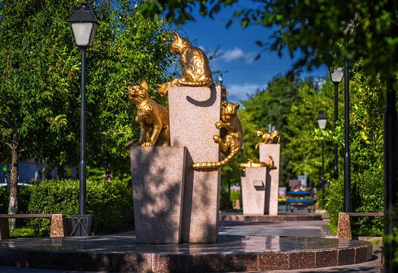puteshestviya-v-tyumen-dostoprimechatelnosti-foto-skver-sibirskih-koshek